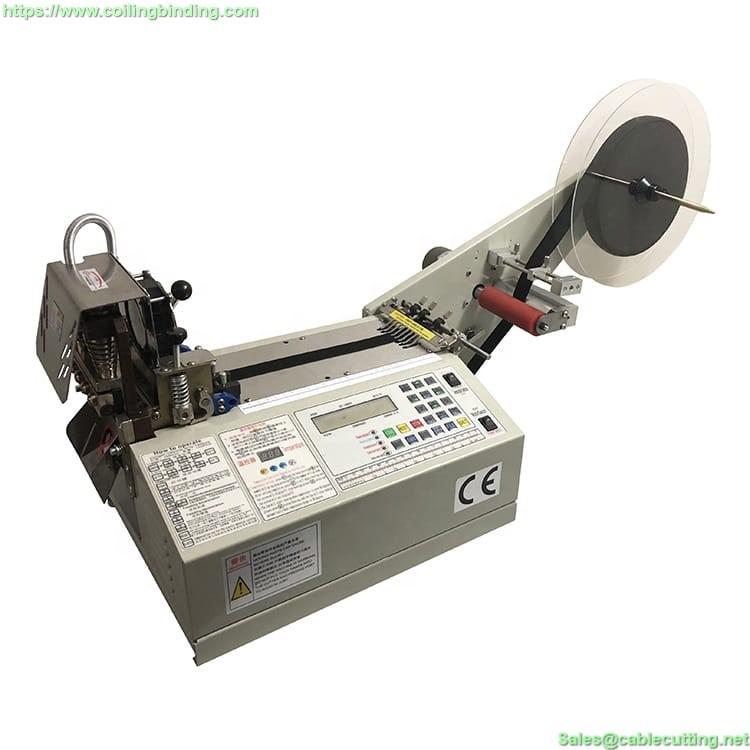 Automatic Hot Cold Knife Nylon Webbing Ribbon Fabric Cutter Elastic Rubber Band Tape Cutting Machine WPM-990T