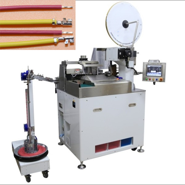 Full automatic wire cut strip one end crimping another end stripping tinning 501S